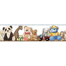 York Wallcoverings Brothers and Sisters V My Favorite Teddy Border, Whit... - $16.82
