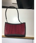 Hand Made Baskets of Cambodia Tatami Purse Bag by Saraye Co Woven - Red/... - $5.90