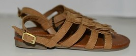 Arizona Jean Company 199638 Childrens Light Tan Fringe Sandals Size 13 Medium image 2