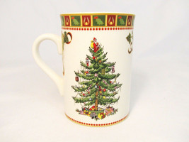 Spode Christmas Tree Sentiment Coffee Mug Cup with Decorative Canister Tin 9 Oz - $26.72