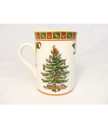 Spode Christmas Tree Sentiment Coffee Mug Cup with Decorative Canister T... - $26.72