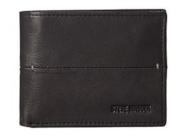 Steve Madden Men's Premium Leather Credit Card Id Wallet Black N80027/08