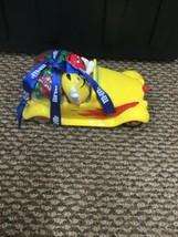 M&M Yellow Sports Car Candy Dish Glass - $19.79