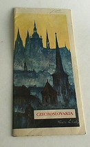"""Vintage 1960's Visitor's Guide Czechoslovakia Tourism 31.5"""" X 8""""  - $17.77"""