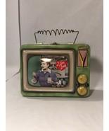 I LOVE LUCY LUNCH BOX VTG TELEVISION SET SHAPE VANDOR COLLECTOR TIN - $23.99