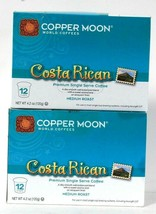 2 Boxes Copper Moon 4.2 Oz Costa Rican Medium Roast 12 Cups Single Serve Coffee - $27.99