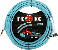 """Pig Hog - PCH20DBR - Right-Angle 1/4"""" to 1/4""""  Instrument Cable - 20 ft.... - $29.65"""