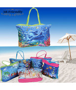 Beach bags large capacity colorful casual lady - $24.99