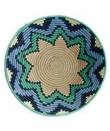 African Basket Spring Harvest Raffia Fruit or Display Home Decor - $58.91