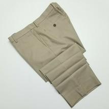 Banana Republic Non Ron Tailored Slim Fit Pants - Beige Striped - 33x31 - $34.65