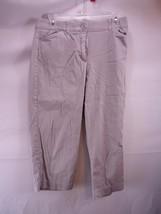 Dressbarn Gray Stretch Cotton Blend Capri Pants... - $9.89