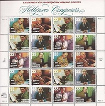 USA 1999 SC#3344a  Hollywood Composers, Stamps MNH VF Fast free shipping - $15.35
