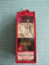 NEW Tres Gourmet WINE RED CADDY w/Wine Chiller, Opener, 2 Charms & Dicti... - $11.88