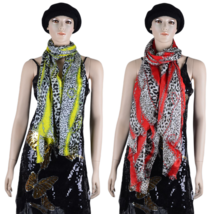 Women leopard small dots chain animal patterned fashion Scarf luxurious ... - $7.75