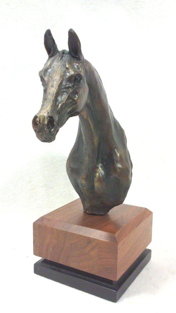 Mid-Century Modern Brutalist Horse Head Bookends