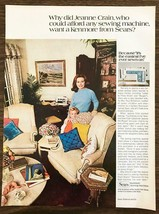 1970 Sears Kenmore Sewing Machine Print Ad Why Did Jeanne Crain Want a Kenmore - $8.90