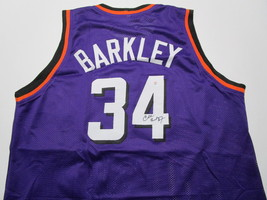 CHARLES BARKLEY / NBA HALL OF FAME / AUTOGRAPHED PHOENIX SUNS CUSTOM JERSEY COA image 1
