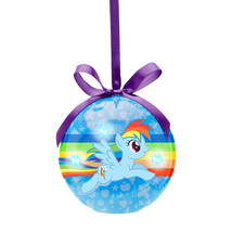 My Little Pony Rainbow Dash Flying Decoupage LED Christmas Holiday Ornam... - $5.94