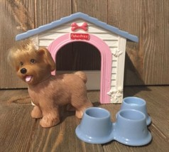 Fisher Price Loving Family Dollhouse Puppy Playtime Retired Dog Pet Dog ... - $14.99