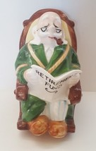 Lefton Vintage Porcelain Figurine Grandpa 60's Retirement Fund Hand Pain... - $39.59