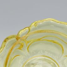 Fenton Art Glass Candleglow Yellow Cabbage Rose Butterfly 9280 Candy Box c1983 image 4