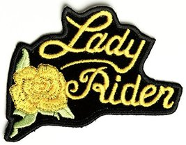 Yellow Lady Rider Rose Patch - 3x2.5 inch - $4.90
