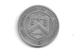 CHALLENGE COIN/MEDAL  - THE DEPARTMENT OF THE TREASURY .(USM 1275) - $14.84