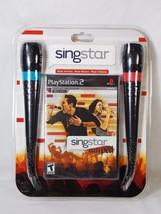PS2 SingStar Amped Bundle for Sony PlayStation 2 Karaoke 30 Hits New Dam... - $34.64