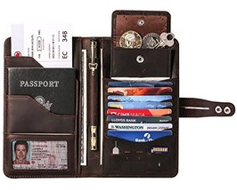 Travel Wallet with RFID Blocking Awesome Passport Wallet Credit Cards Ho... - $49.45