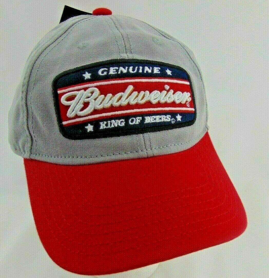Budweiser Homme Vintage Délavé Véritable King De Bières Casquette Snapback Gris