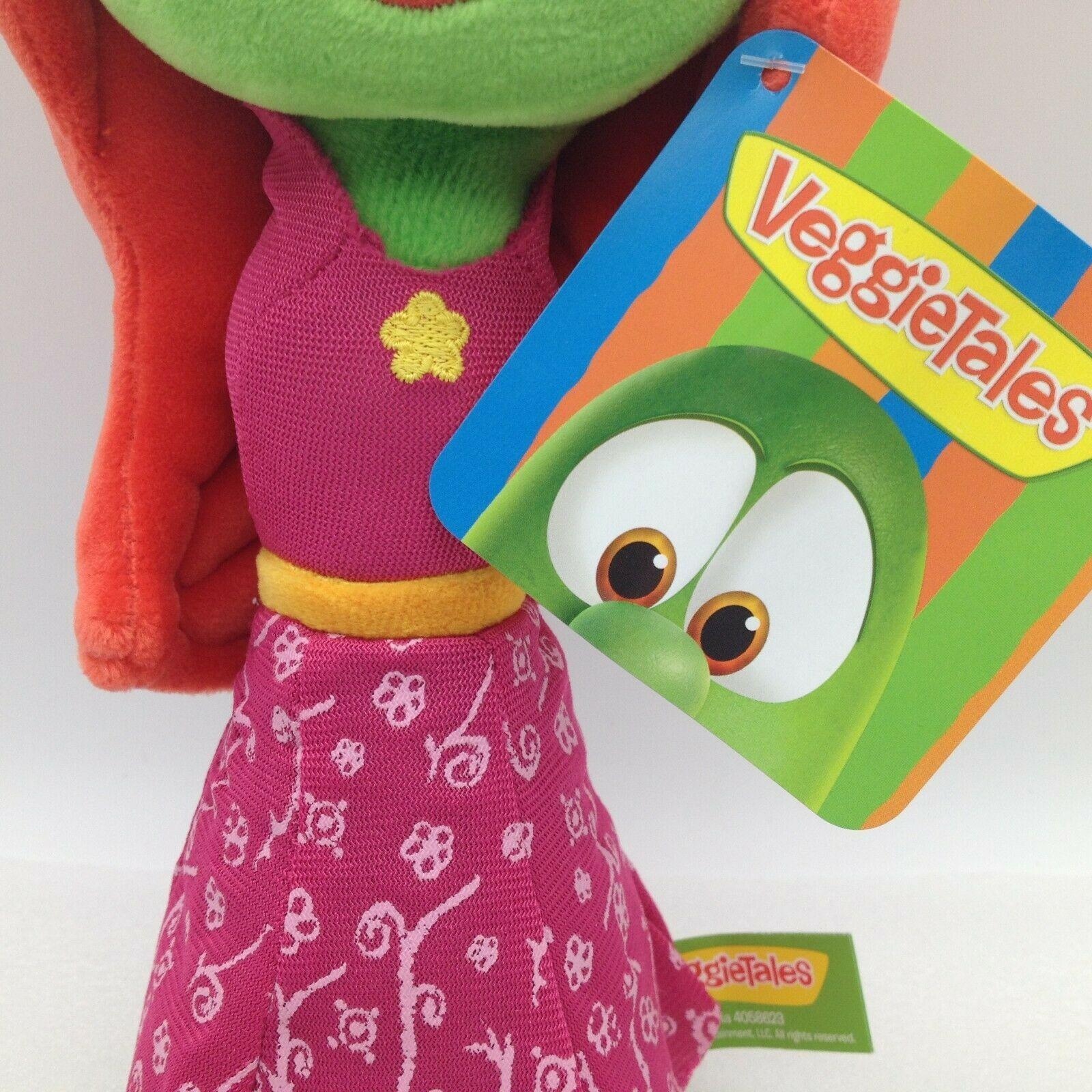 "Enesco Veggietales Petunia Rhubarb Plush Doll Toy 11"" Tall Super Soft Veggie image 6"