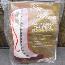 Elsa Williams Canvaswork Needlework Vintage Lace Up Shoe Christmas Stocking Kit* - $42.00