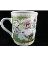 Teddy Bear Picnic Tea Time Coffee Mug Hallmark Toad Rabbit Cat Mouse Vin... - $10.88