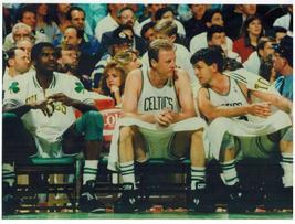 Parish Bird Mchale Celtics 11X14 Matted Color Basketball Memorabilia Photo - $14.99