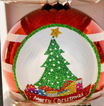 Rauch Glass Ball  Christmas Tree  Red  White Stripes  2019 Holiday Ornament - $9.81