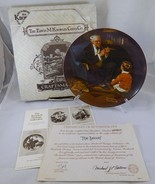 1981 Knowles THE TYCOON Norman ROCKWELL HERITAGE Businessman Grandpa Plate  - $15.63
