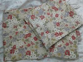 RALPH LAUREN - beige FLORAL std SIZE pillowcases, 2 - $19.75