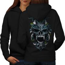 Hell Demon Sweatshirt Hoody Skull Women Hoodie Back - $21.99+