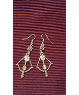 Metal Bow and Arrow Dangle Earrings made with Nickel Free hooks - $5.40