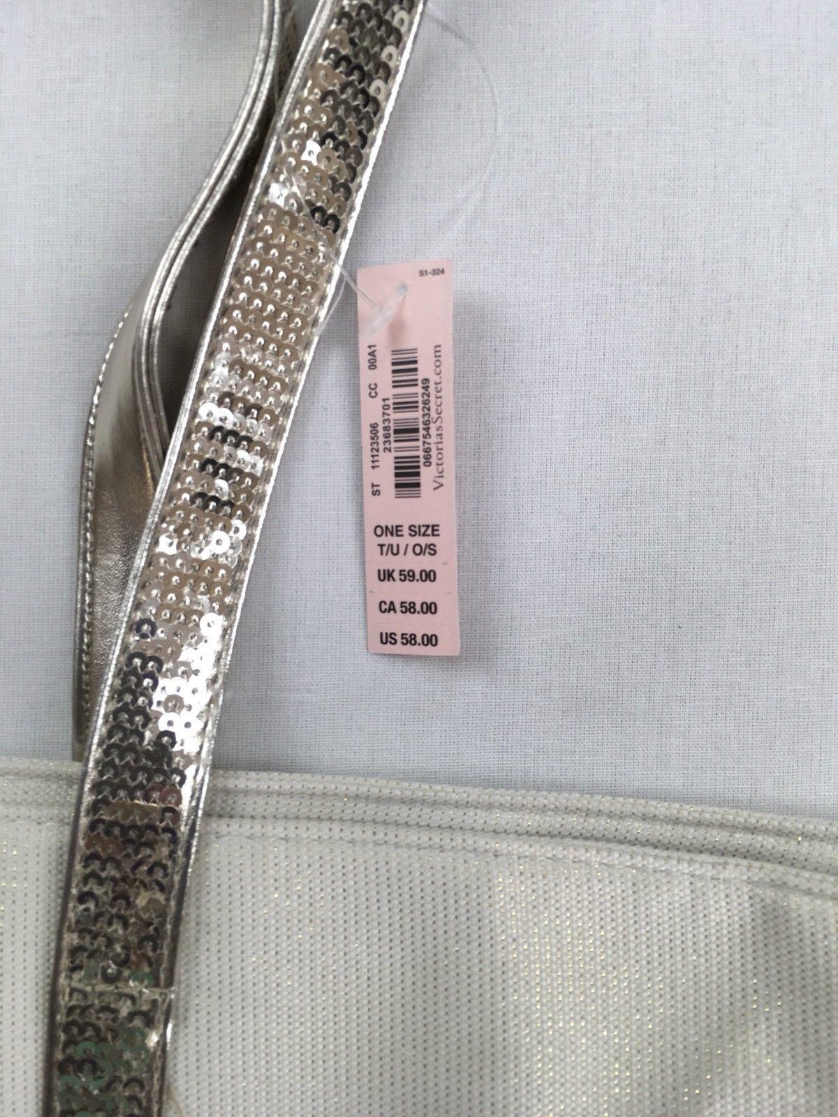 Victoria Secret Pink Silver Glitter Backpack 2dded2d08cf54