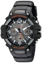 Casio Men's MCW-100H-1AVCF Heavy Duty Design Watch with Black Silicone B... - $54.31