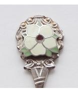 Collector Souvenir Spoon Canada BC Penticton Dogwood Flower Cloisonne Em... - $4.99