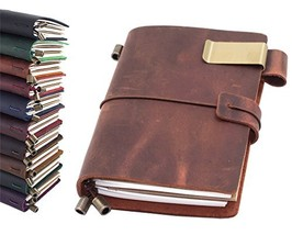 Leather Journal, Handmade Vintage Refillable Travel Diary Writing Notebo... - $18.70