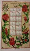 Vintage Tea Towel/Calendar-1990 Australian Banksia (Ross) Designed in Au... - $14.95