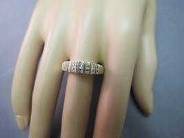 10k Yellow Gold Diamond Mom Ring 2.9g Unique Size 10 Baguettes White Gol... - $118.79