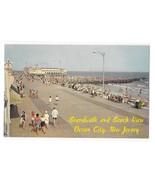 NJ Ocean City Birds Eye View North Boardwalk Beach Jetty Music Pier Vtg ... - $6.69