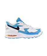 Nike Air Max2 Light Big Kids' Shoes White-Black-Blue Lagoon CJ4027-102 - $70.00