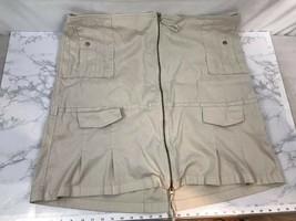 Venizia Long Pencil Striaght Skirt Womens 24 Khaki Zipper White Tan Plus... - $18.60