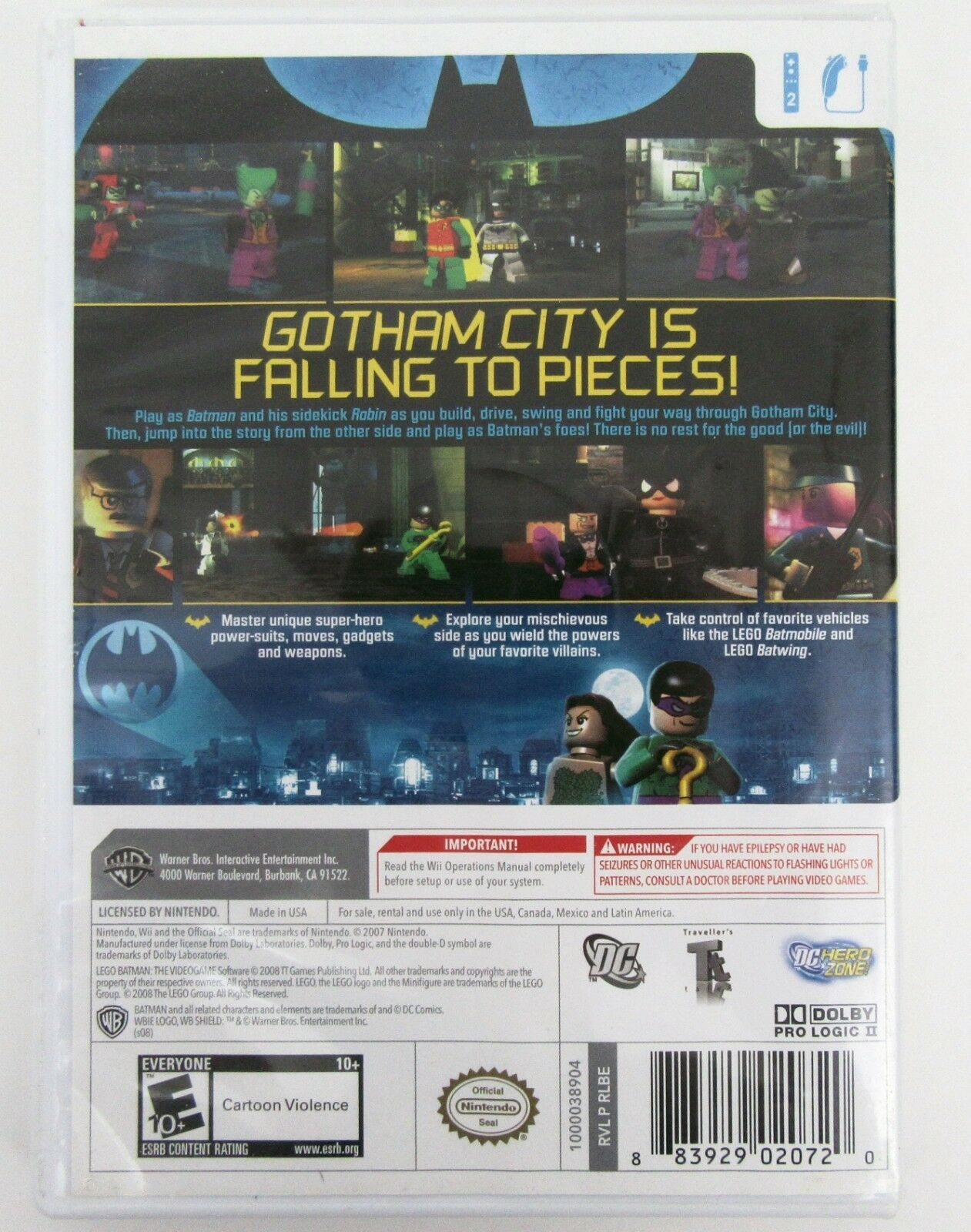 LEGO Batman The Videogame Wii Game Complete Tested and Works