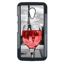 Coloful wine with Paris Motorola Moto E case Customized premium plastic phone ca - $11.87